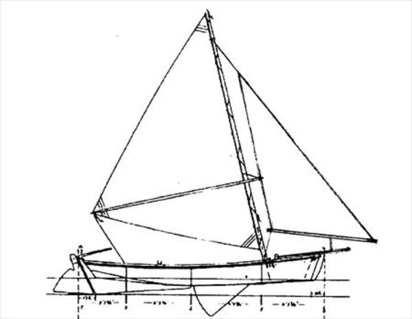 13 Foot Balance Jib Skiff Sail Data