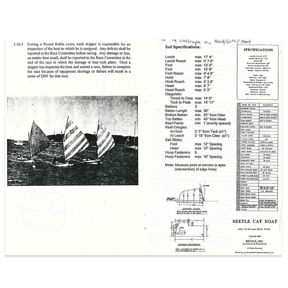 Beetle Cat Sail Data