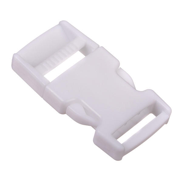 Side Release Buckle White 1""