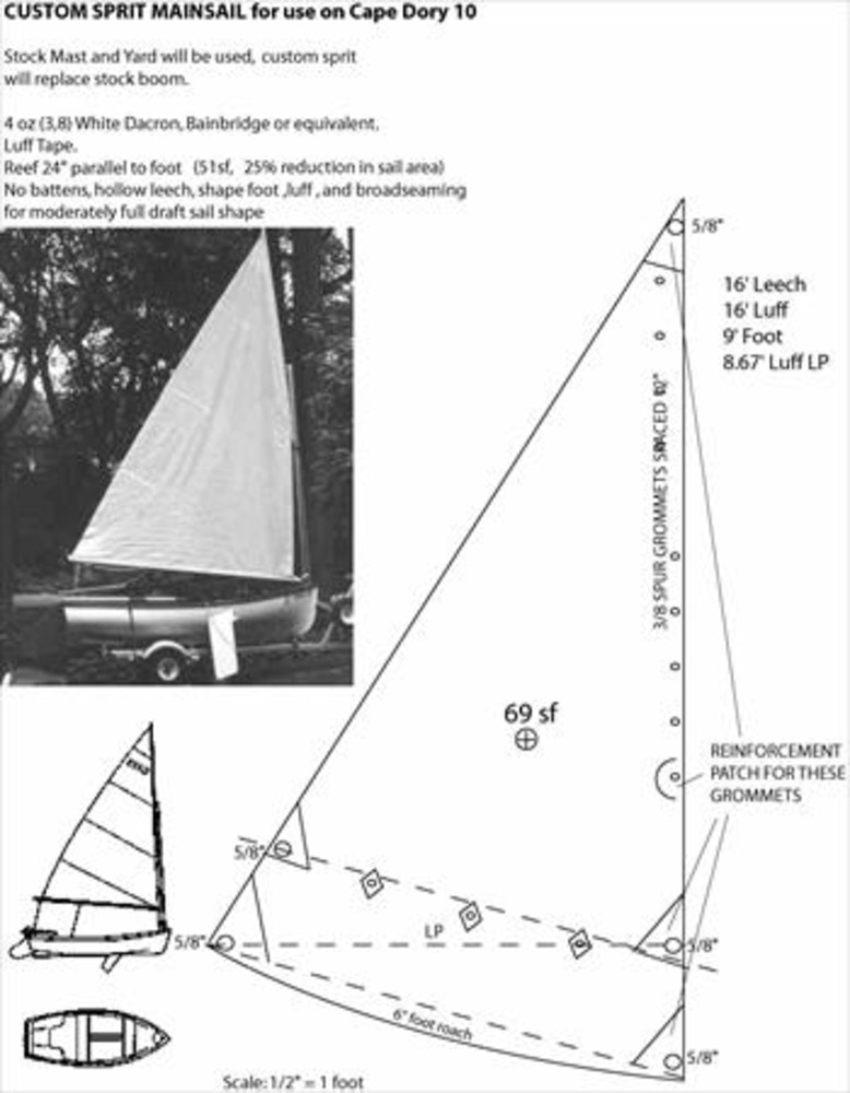 Cape Dory 10 Sail Data