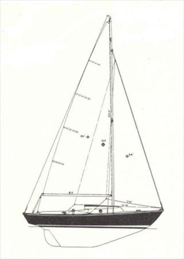 Cape Dory Typhoon Weekender Sail Data