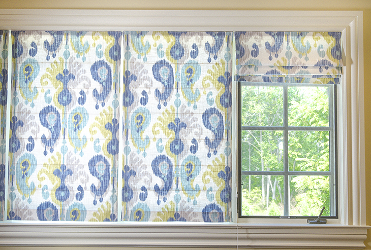 Roman Shades offer style and sun protection for your home.
