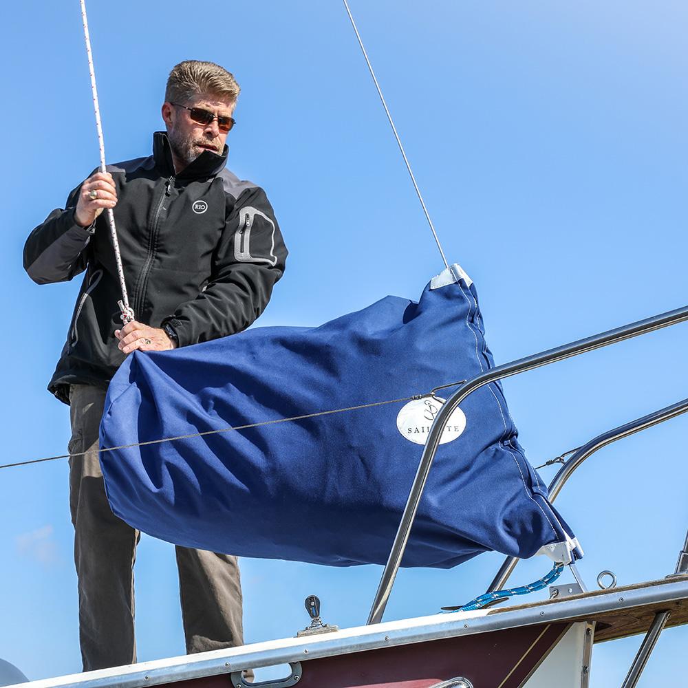 "Cadet Grey Sail Bag 18/"" x 36/"" Sunbrella sail storage Deck Bag"