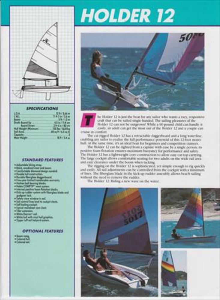 Holder 12 Sail Data