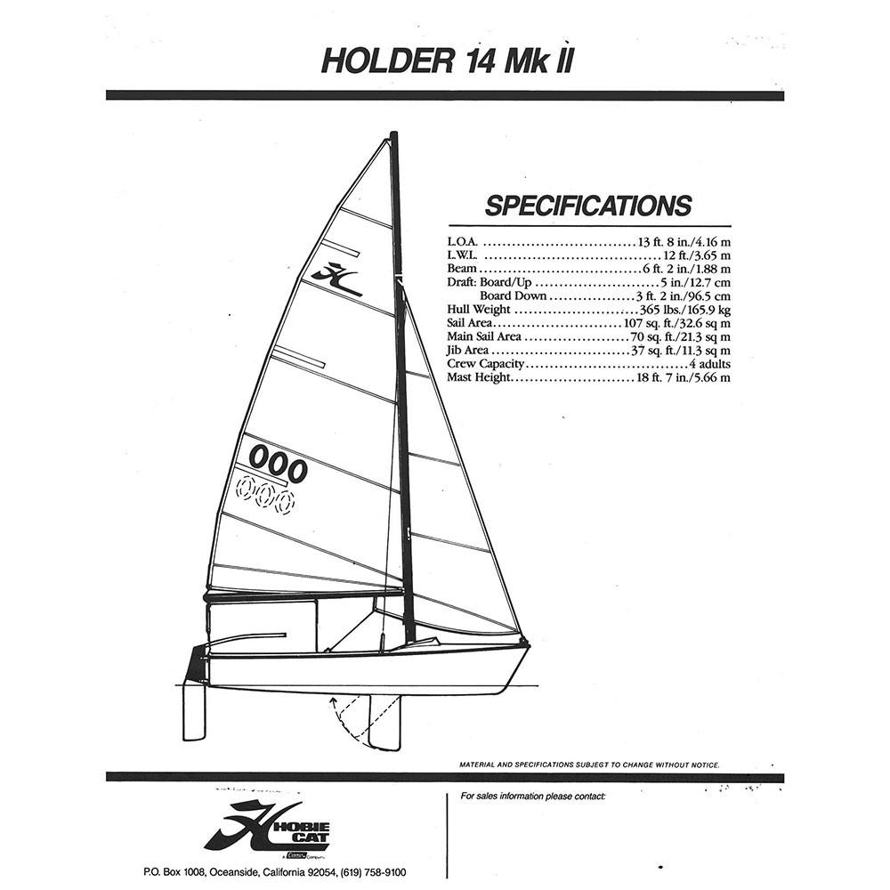 Holder 14 MK II Sail Data