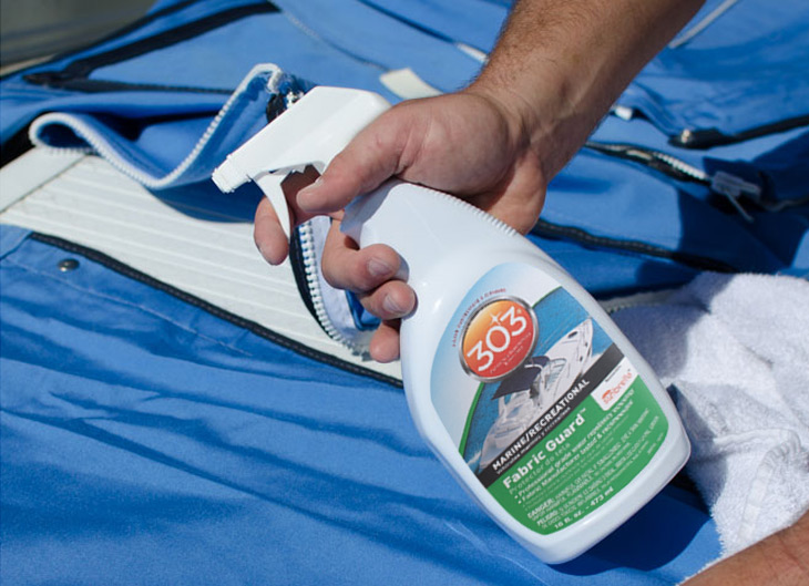 Clean all your canvas before each new sailing season!