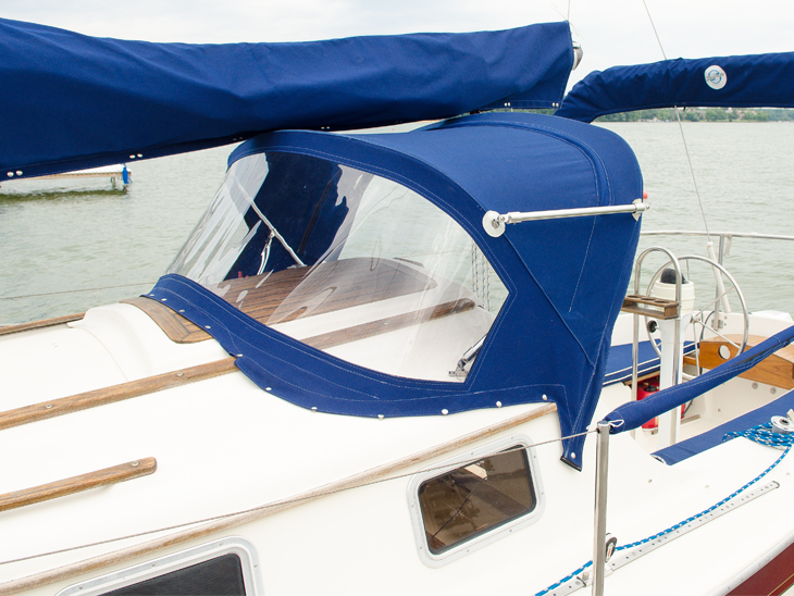 Learn how to clean Sunbrella fabric, like the fabric used on this dodger