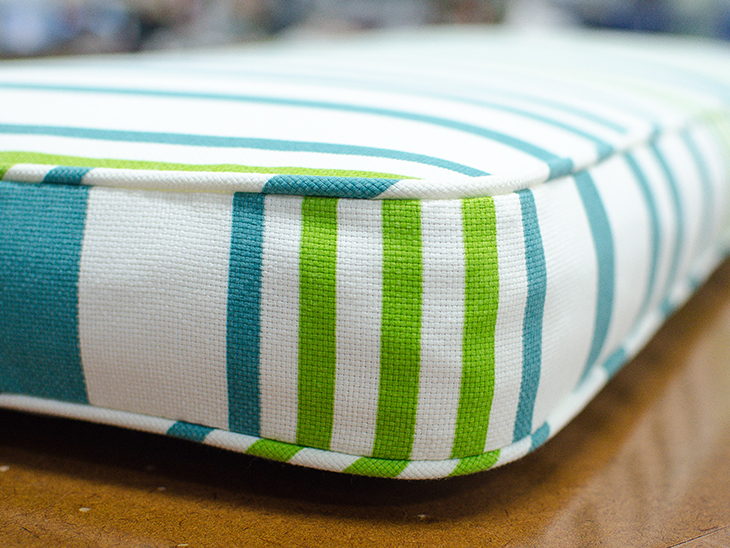 How To Upholster A Sofa Cushion With Piping