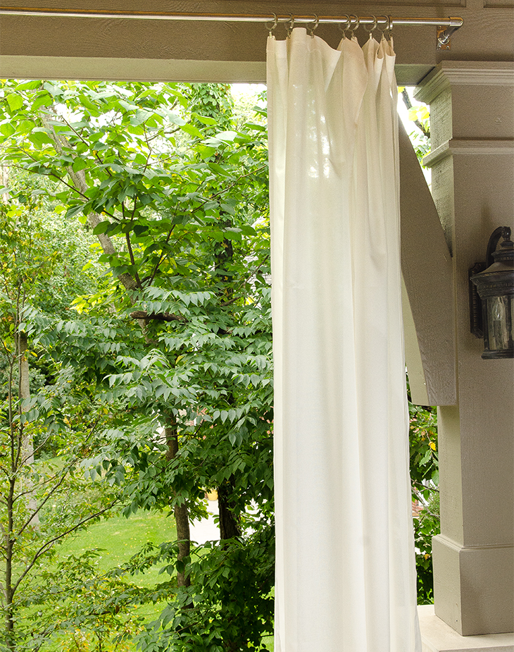 how to make sheer curtains look good