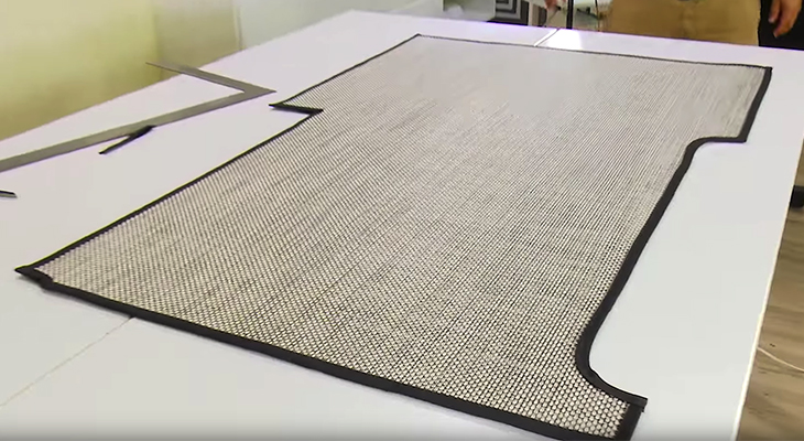 How To Make A Custom Boat Floor Mat With Woven Vinyl