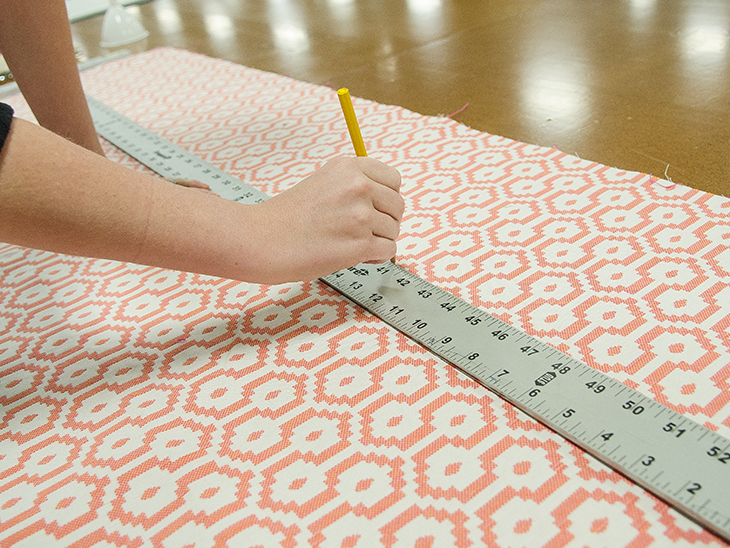 Trace your measurements out on your fabric