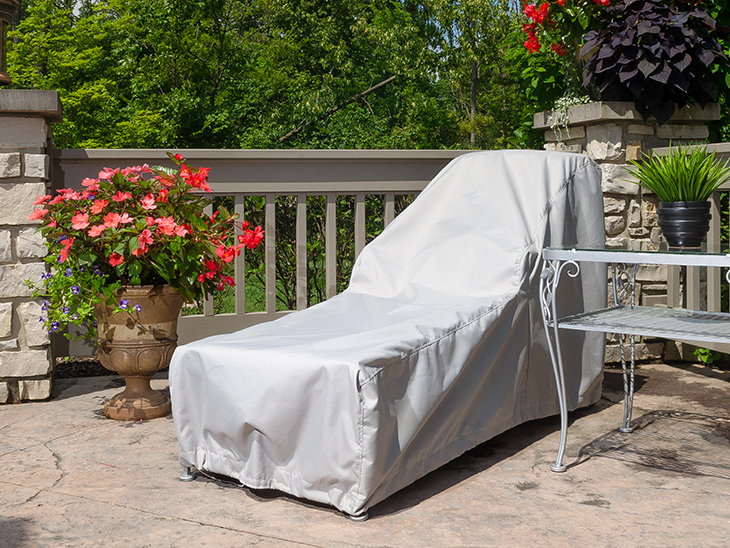 Our Lounge Chair Cover Installed On The Patio Chair Part 36