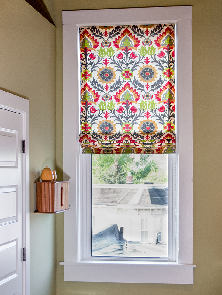 Making a hybrid Roman Roller Shade is easier than you think!