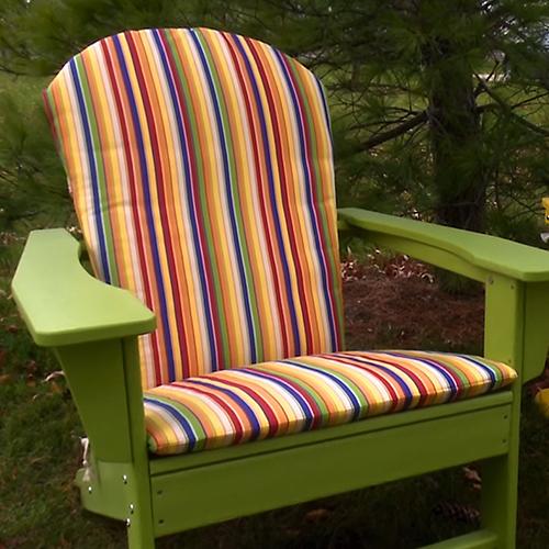 Phenomenal How To Make An Adirondack Chair Cushion Video Sailrite Dailytribune Chair Design For Home Dailytribuneorg