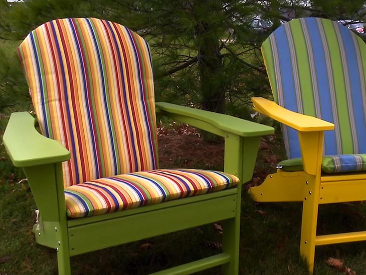 finished hinged adirondack chair cushion