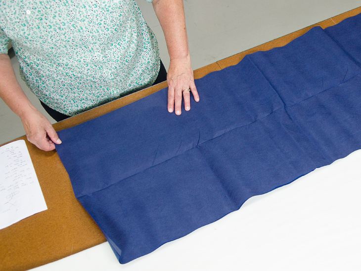 Lay out your fabric for patterning