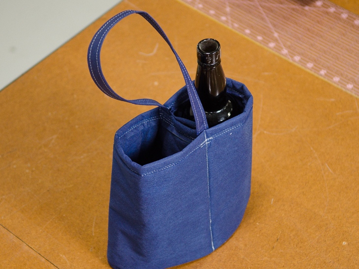 Finished wine tote!