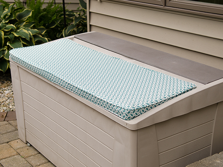 An Outdoor Bench Cushion With Boxing