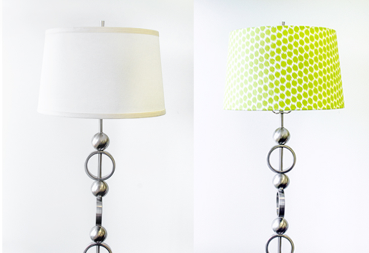 How to recover a lamp shade with fabric video sailrite before and after diy lampshade keyboard keysfo Images