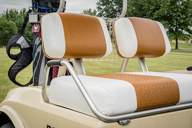 How to Reupholster Golf Cart Backrests - Sailrite Golf Cart Head Rests on golf cartoons, golf players, golf buggy, golf accessories, golf handicap, golf trolley, golf games, golf card, golf hitting nets, golf tools, golf girls, golf machine, golf words,