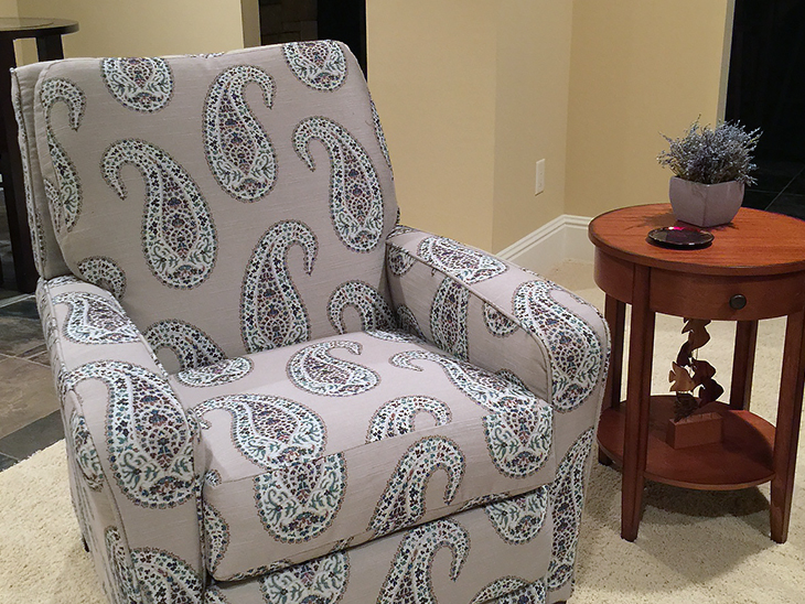 Newly reupholstery La-Z-Boy Recliner Chair.