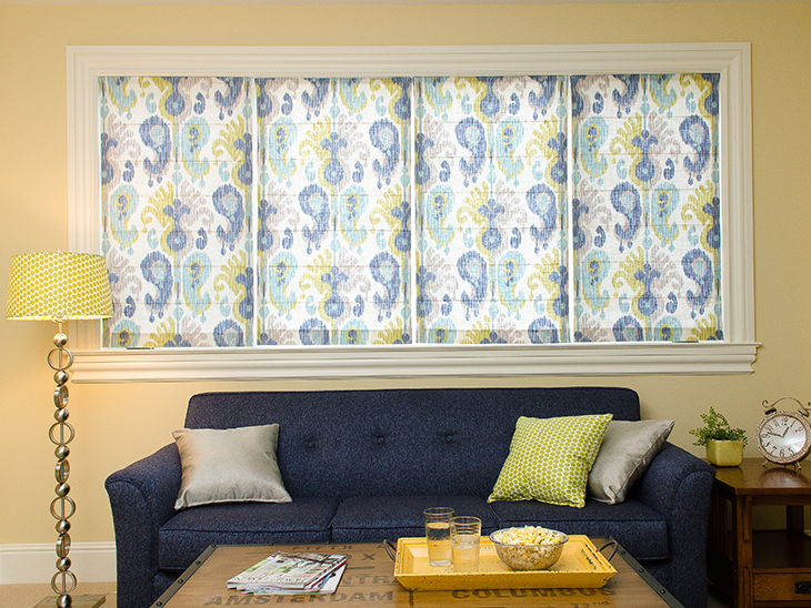 Roman Shades In A Bay Of Windows