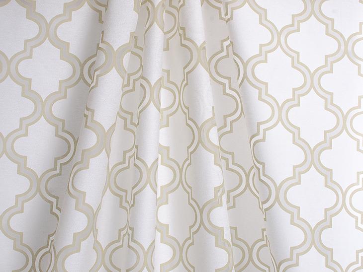 Nice Sheer Drapery Fabric, Softline Penrose Burnout Champagne