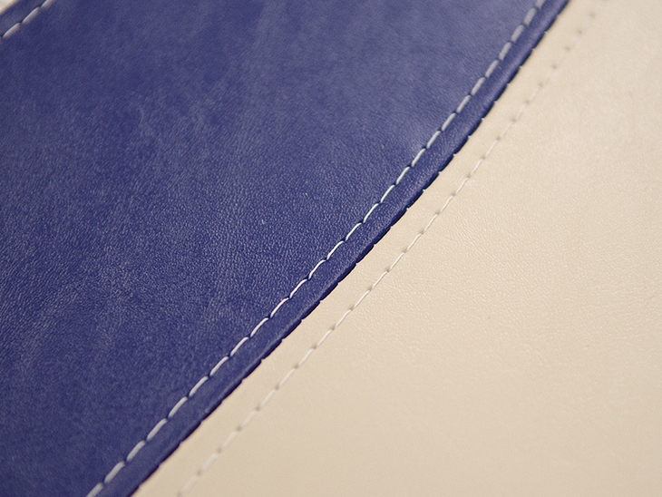 Example of an upholstery French seam.