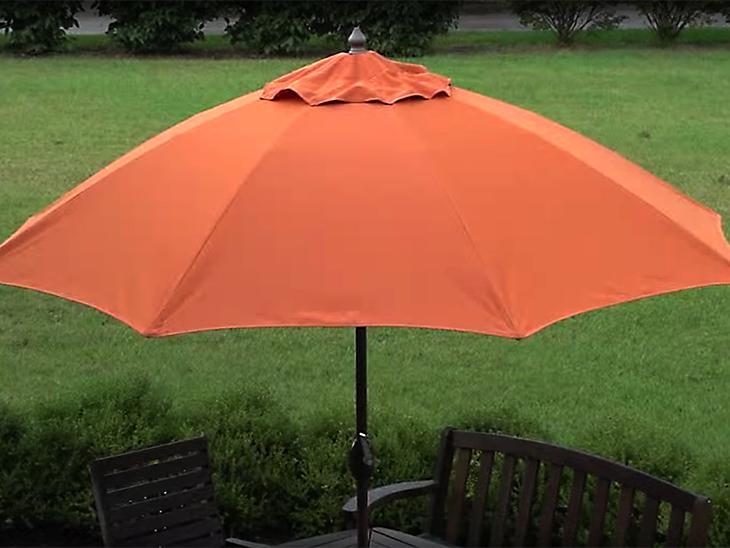 Good Make A New Canopy For Your Patio Umbrella Using Sunbrella Fabric