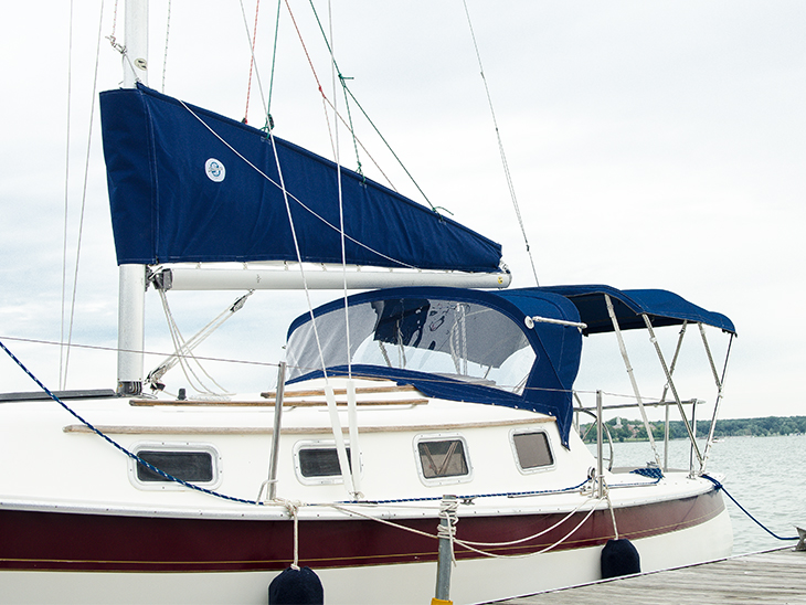 A sail pack installed on our Seaward 22