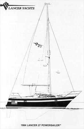 Lancer 27 Sail Data