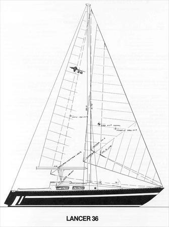 Lancer 36 1977 First Design Sail Data
