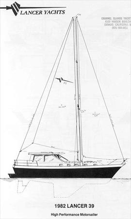 lancer 39 motorsailor sail data rh sailrite com