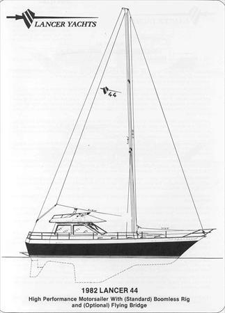 Lancer 44 Sail Data