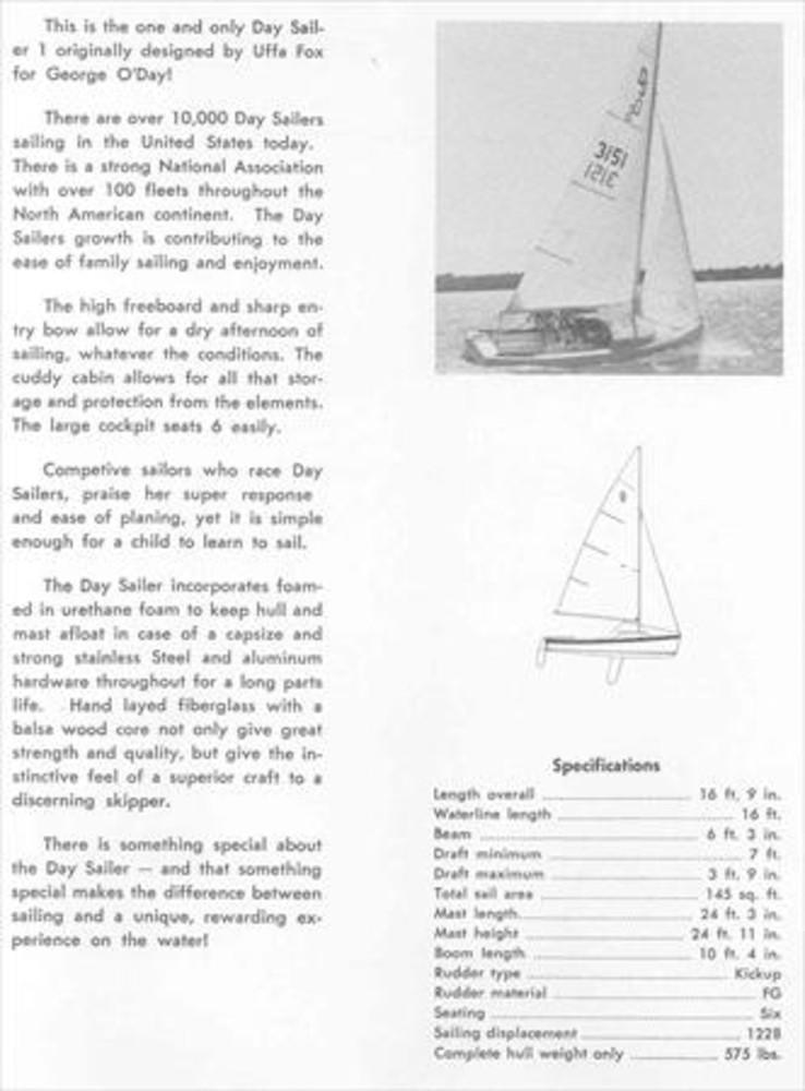 O'Day Daysailer I Sail Data on
