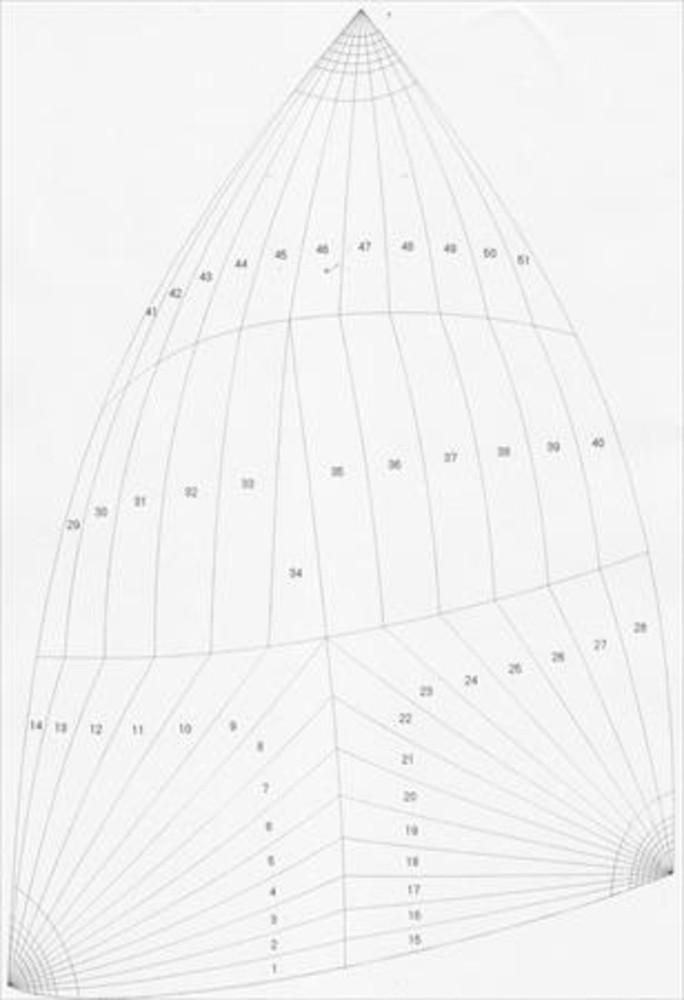 Pearson 424 (ketch Rig) Sail Data