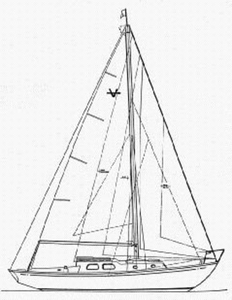 Pearson Vanguard Sloop Sail Data