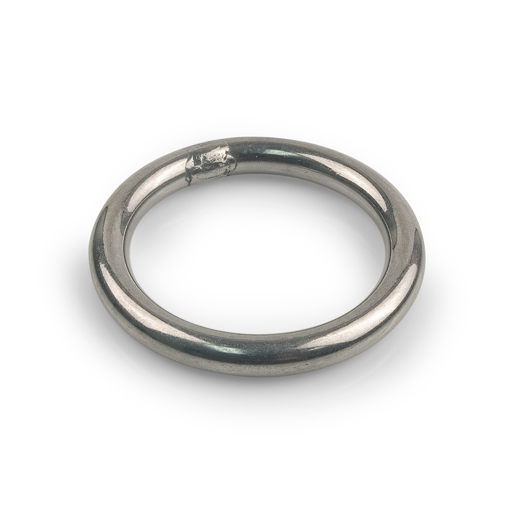 """Stainless Steel 2-1//4/"""" Round Ring With Bar"""