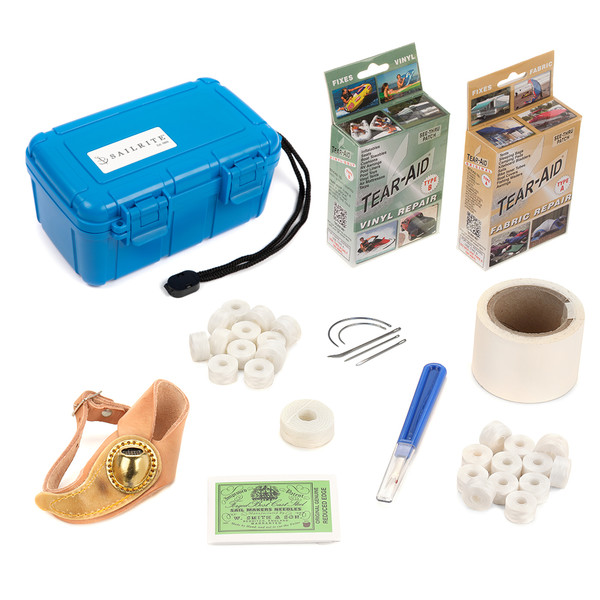 Sail & Canvas Repair Kit in Waterproof Box (Right Palm)