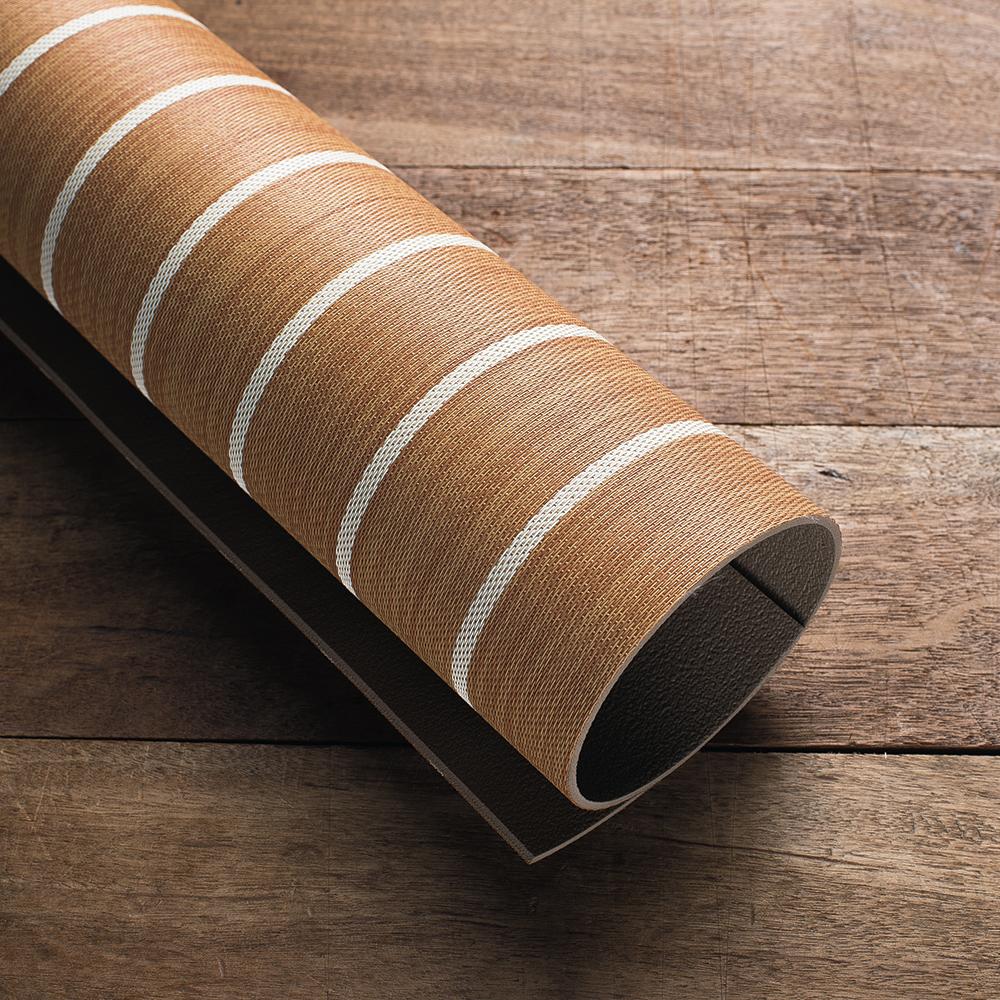 Luxury Woven Vinyl Flooring Dark Teak