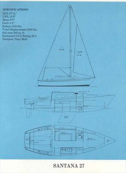 Santana 27 Sail Data