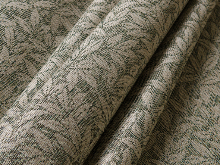 Sunbrella Sling Myrtle Is A Sling Fabric With A Leaf Design.