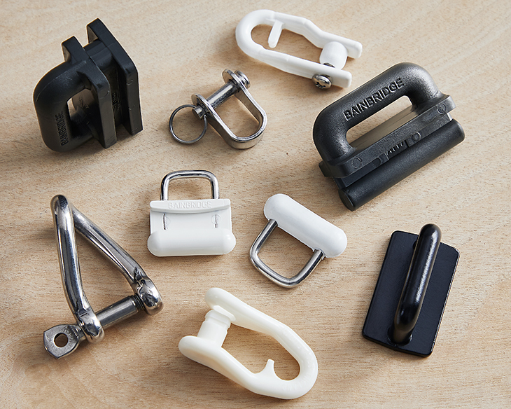 A selection of slugs, slides and shackles