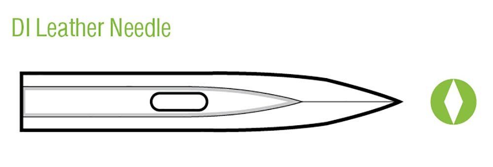 Diagram of a DI leather needle