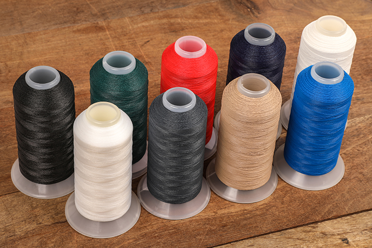 All nine colors of Tenara thread