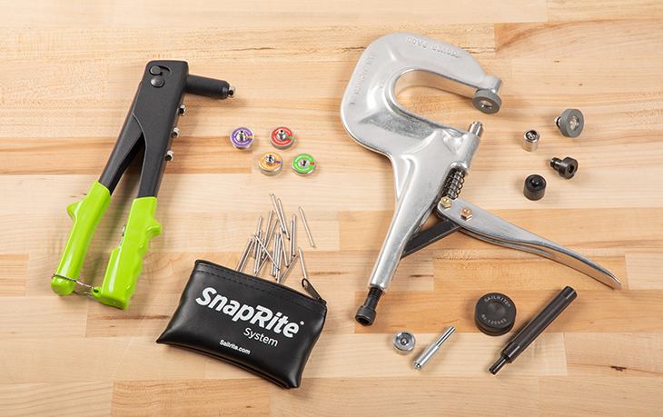 Sailrite has four different snap installation tools to choose from