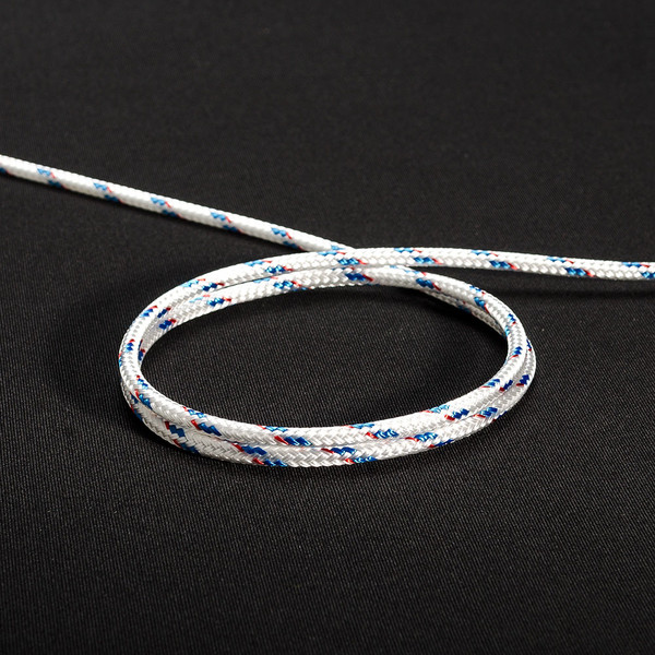 "New England Sta-Set Double Braid Rope 1/4"" 6mm Blue Fleck"
