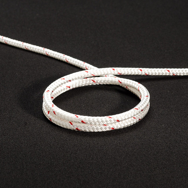 "New England Sta-Set Double Braid Rope 1/4"" 6mm White"