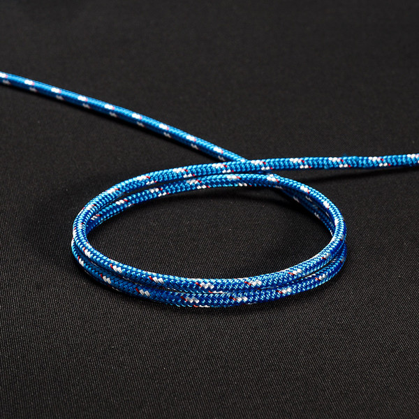 "New England Sta-Set Double Braid Rope 3/16"" 5mm Blue"