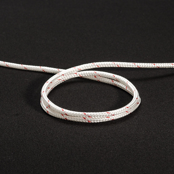"New England Sta-Set Double Braid Rope 3/16"" 5mm White"